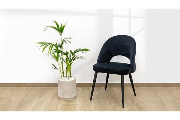 Обеденный стул из черного бархата модель VALENCIA - купить в Израиле