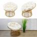 Кресло из синтетического ротанга цвета натурального ротанга, модель MIKONOS - купить в Израиле