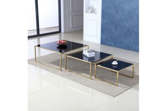 Журнальный столик MAYA - комплект из 3 столов 100 + 80 + 60 купить в Израиле