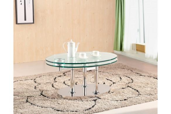 Журнальный столик овальной формы 952 купить в Израиле с доставкой на дом