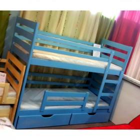 Двухъярусная детская кровать из массива дерева, модель PLUTO II