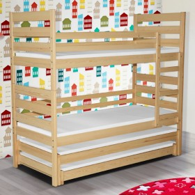 Трехъярусная детская кровать из массива дерева, модель PLUTO III