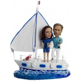 Большой подарок паре по фото «Свобода на яхте» 40 см