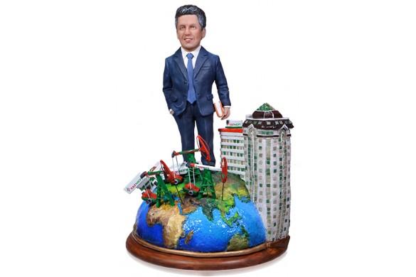 "Vip подарок нефтянику по фото ""Президенту корпорации"" 35 см"