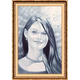 Портрет по фото на заказ A4 черно-белый только лицо