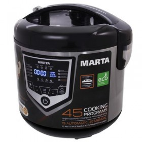 Мультиварка MARTA MT-4301 черный/сталь
